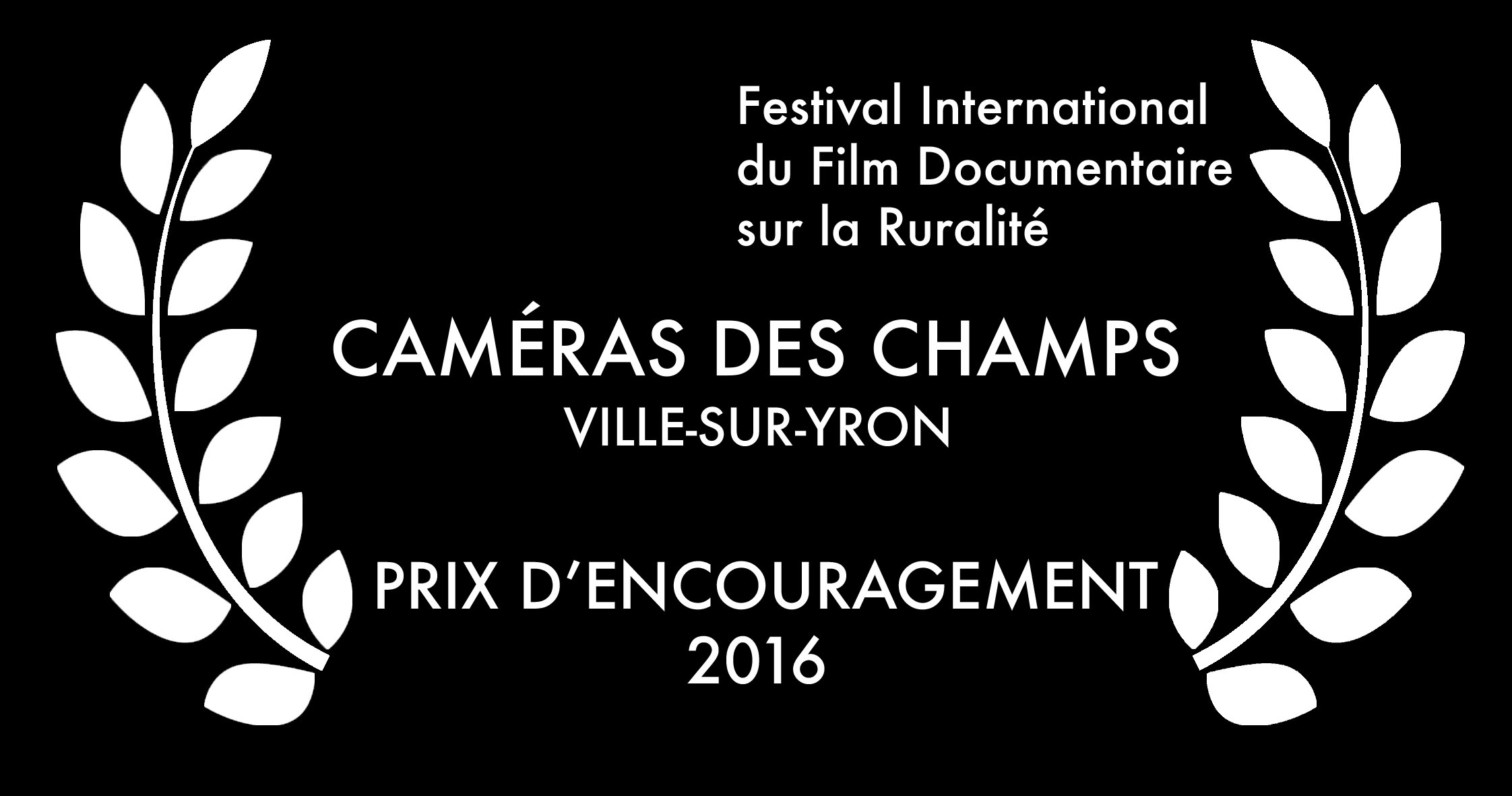 Festival International du Film Documentaire sur la Ruralité 2016 - Prix d'encouragement